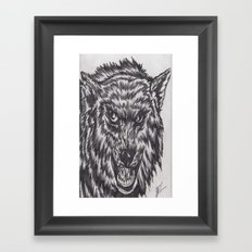 Angry wolf Framed Art Print