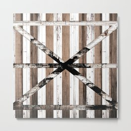 Rustic Multi Wood Barn Door Metal Print