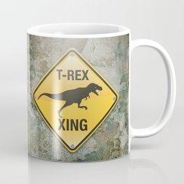T-Rex Crossing Coffee Mug