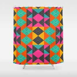 Bright multicolored shapes Shower Curtain