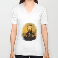 replaceface V-neck T-shirts featuring Alan Rickman - replaceface by replaceface