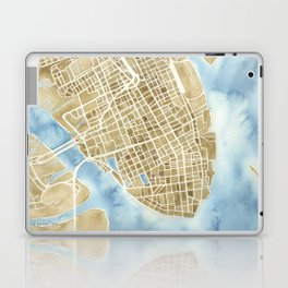 Charleston, South Carolina City Map Art Print Laptop & iPad Skin