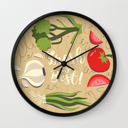 Fresh Is Best In The Kitchen Wall Clock