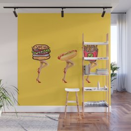 Fast food, great legs Wall Mural