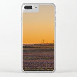 Prairie Wind Turbines, North Dakota 3 Clear iPhone Case