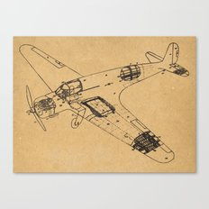 Airplane diagram Canvas Print