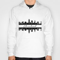 cleveland Hoodies featuring Cleveland Skyline by Madison Asher