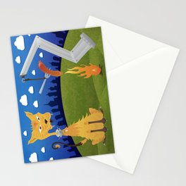 Tatos the Winnie Eating Alley Cat. Stationery Cards
