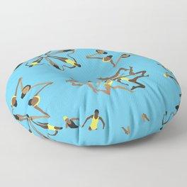 Synchronized Swimming Floor Pillow