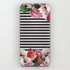 stripes and flowers iPhone & iPod Skin