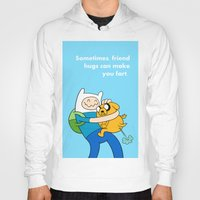 finn and jake Hoodies featuring Finn and Jake Fart  by Richtoon