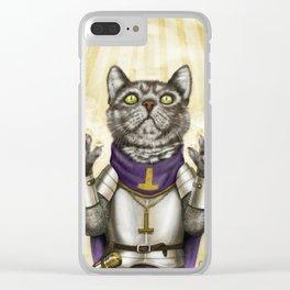 Cleric Cat Clear iPhone Case
