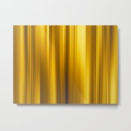 Abstract background blur motion golden moments Metal Print