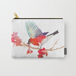 Bullfinch bird with ashberry Carry-All Pouch