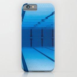 Underwater Empty Swimming Pool. iPhone Case