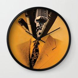 Mr. Microphone Wall Clock