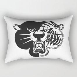 Half Tiger Half Panther Rectangular Pillow