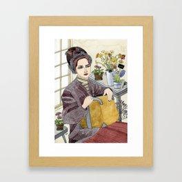 In the Flower Shop Framed Art Print