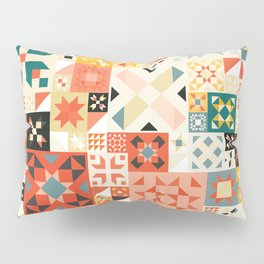 Modern Quilt Pattern Pillow Sham