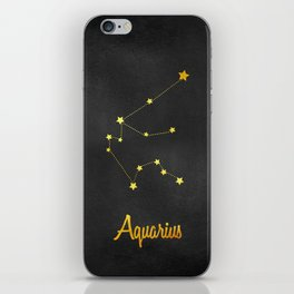 Aquarius Constellation Gold iPhone Skin
