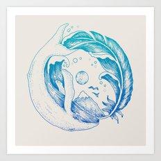 Fly High/Swim Deep Art Print