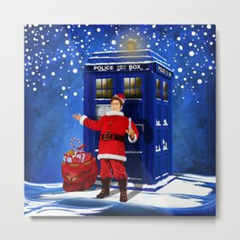 10th Doctor who Santa claus iPhone 4 4s 5 5s 5c, ipod, ipad, pillow case and tshirt Metal Print