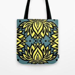 Waterlilies(grey/blue background) Tote Bag