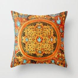 Buddhist Mandala 45 Ashta Bhairava Throw Pillow