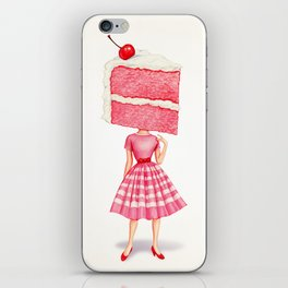 Cake Head Pin-Up - Cherry iPhone Skin