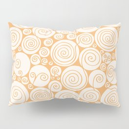 Still Waiting For Spring Bright Orange Pattern Pillow Sham