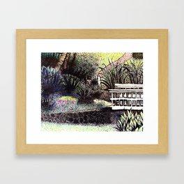 Pointy Garden Framed Art Print