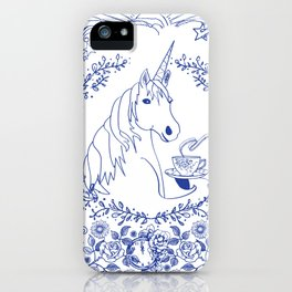 Blue Willow Tea Party iPhone Case