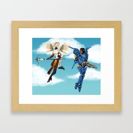 Keep the Skies Clear Together Framed Art Print
