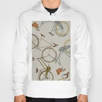 bicycles Hoodies featuring bicycles by Golden Boy