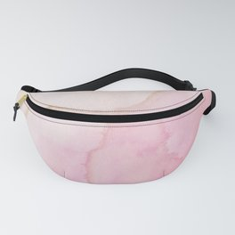 Blush Pink Gold Ink Texture  Fanny Pack