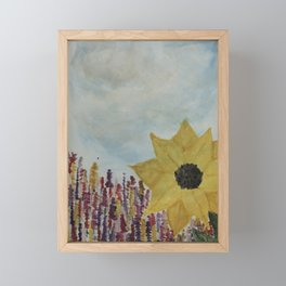 Good ol' flower power Framed Mini Art Print