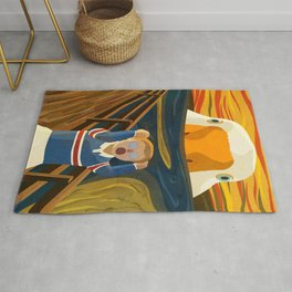 The Honk - Untitled Goose Game Famous The Scream Canvas Painting Parody Meme Thematic Gift Rug