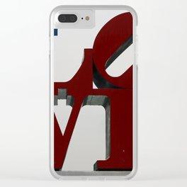 Love Philadelphia Sculpture Clear iPhone Case