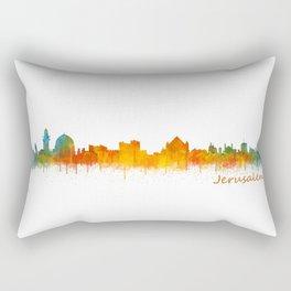 Jerusalem City Skyline Hq v2 Rectangular Pillow