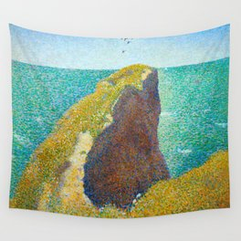 Le Bec du Hoc Grandcamp Georges Seurat - 1885 Impressionism Modern Populism Oil Painting Wall Tapestry