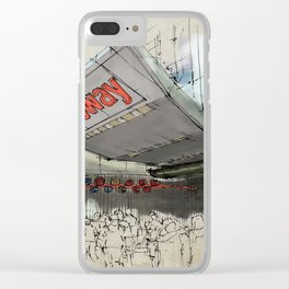 Times Square Sketch, Subway sketch, New York Clear iPhone Case