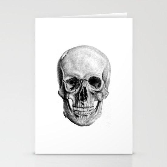 Graphite Skulls Stationery Cards