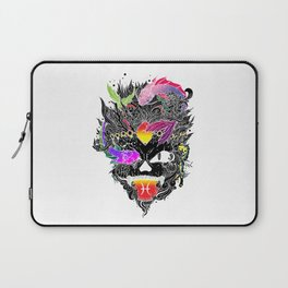 Capricorn Skull Zodiac Sign For December and January Birth Day Gift A Laptop Sleeve
