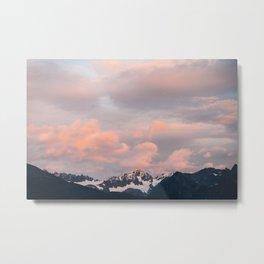Alaskan Mountain Sunset (Pink) II Metal Print