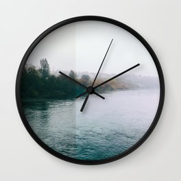 Autumn trees. Wall Clock