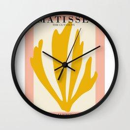 Henri matisse the cut outs contemporary, modern minimal art Wall Clock