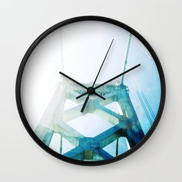oakland bay bridge  Wall Clock