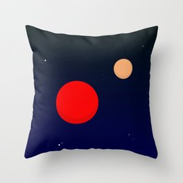 Two planets Throw Pillow