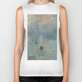Claude Monet's Impression, Soleil Levant Biker Tank