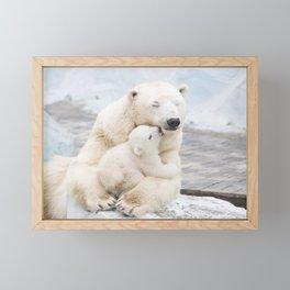 Polar Bear Love Framed Mini Art Print
